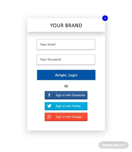 Free Website Login Pop-up Template
