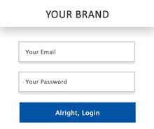 Free Website Login Pop-up Template