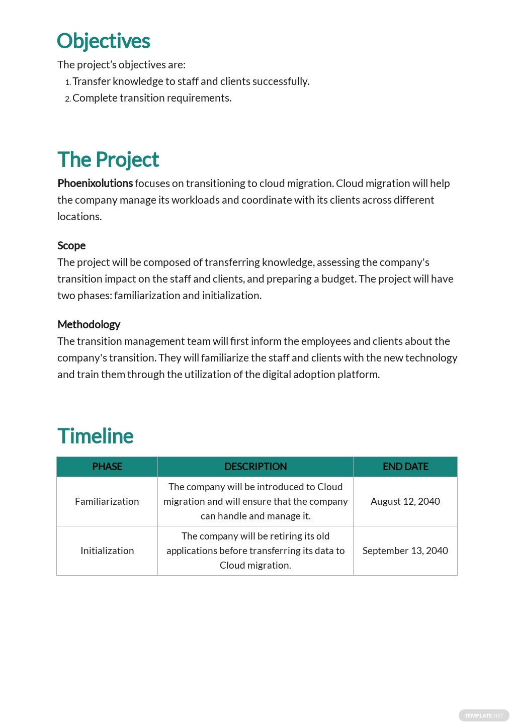 Free Project Transition Plan Template 1.jpe