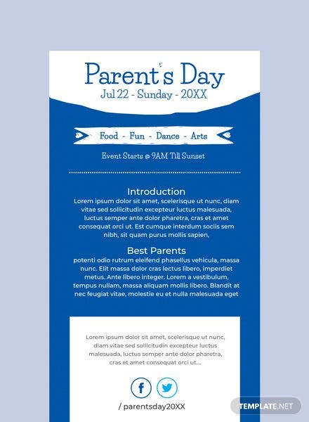 Parent's Day Email Newsletter