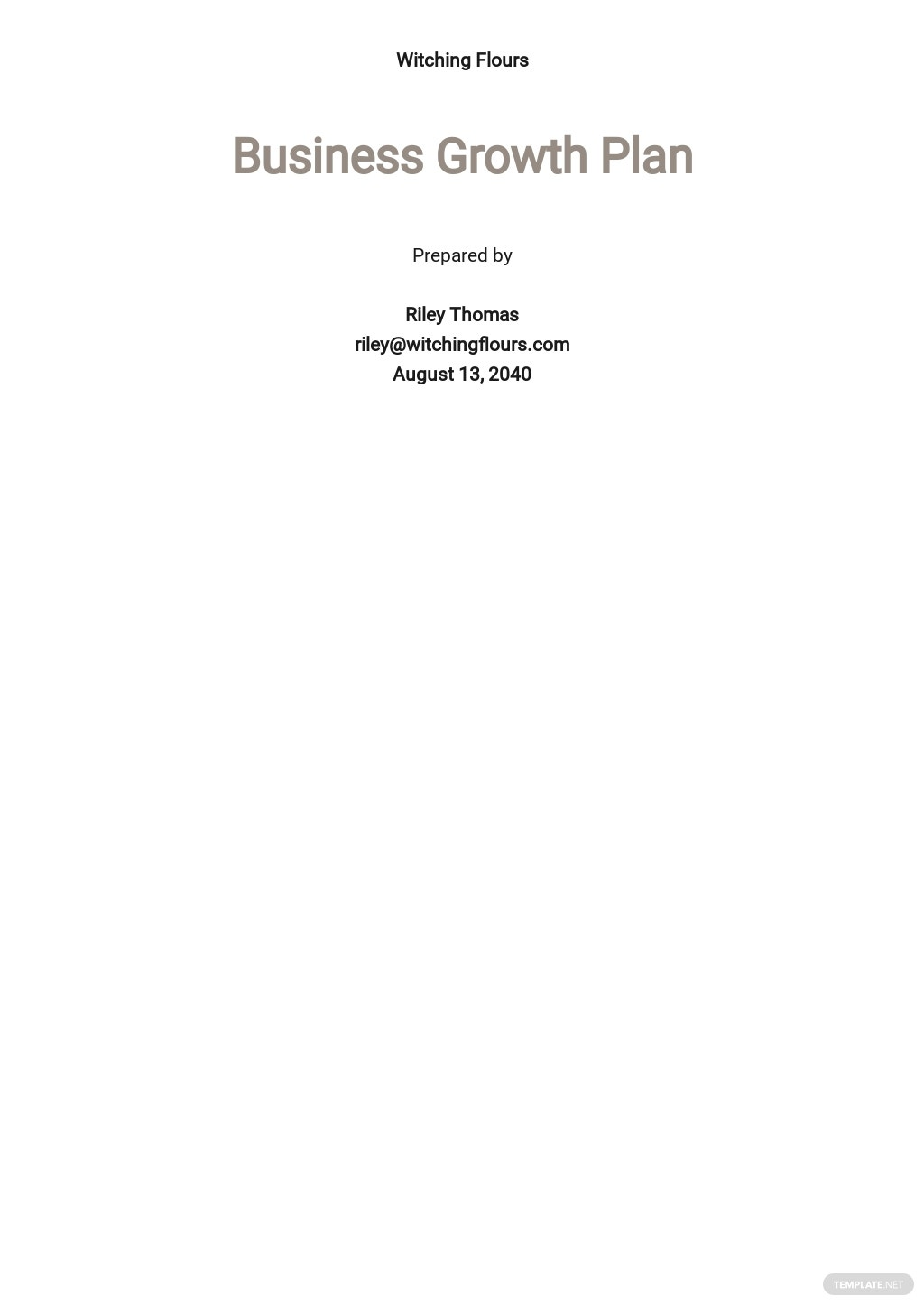 Free Business Growth Plan Template.jpe