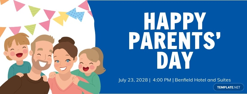 Parent's Day Facebook Cover Template