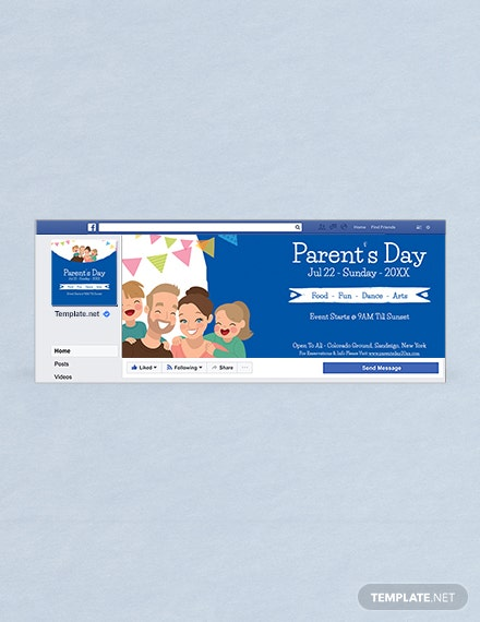Free Parent's Day Facebook Cover