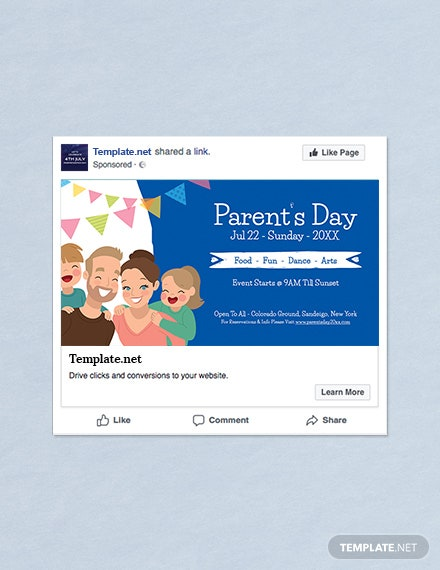 Free Parent's Day Facebook Post