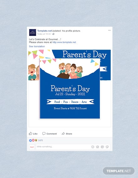 Free Parent's Day Facebook Profile