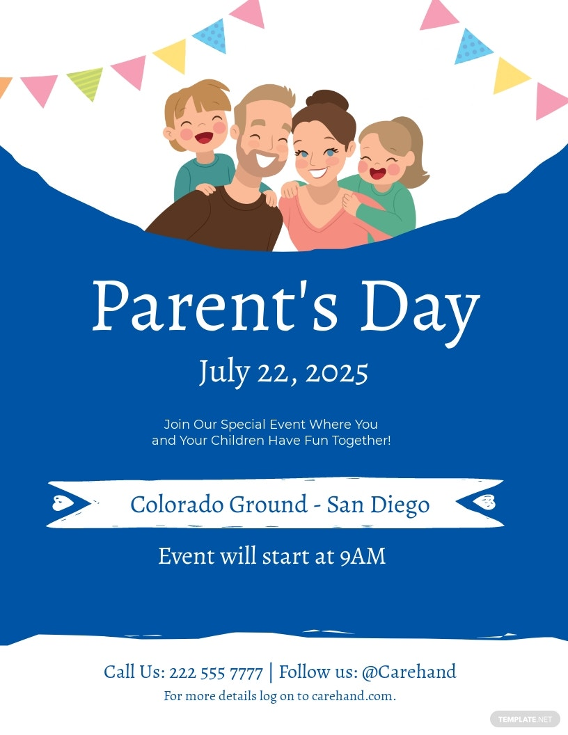 Parent's Day Flyer Template