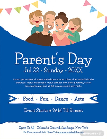 Free Parent's Day Flyer