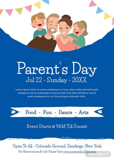 Parent's Day Flyer