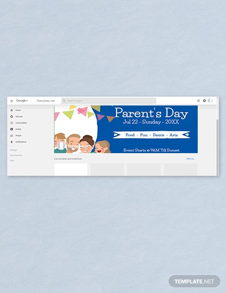 Free Parent's Day Google Plus Cover