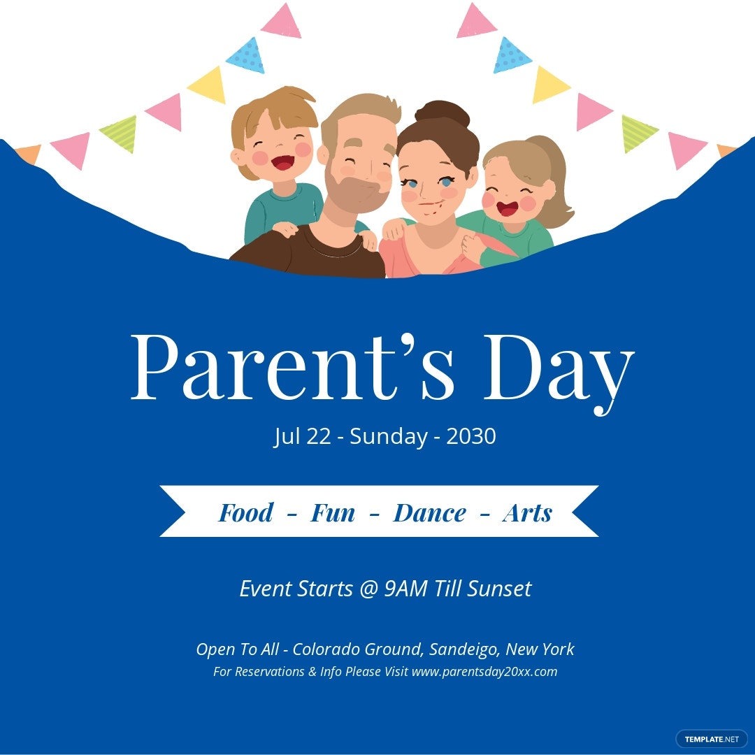 Parent's Day Instagram Post Template