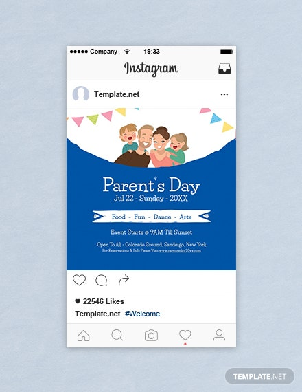 Free Parent's Day Instagram Post