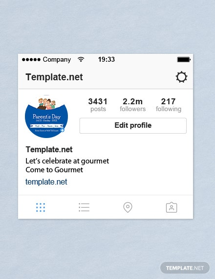 Parent's Day Instagram Profile Photo Template  - PSD