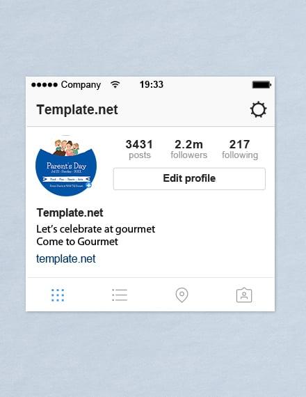 Free Parent's Day Instagram Profile Photo