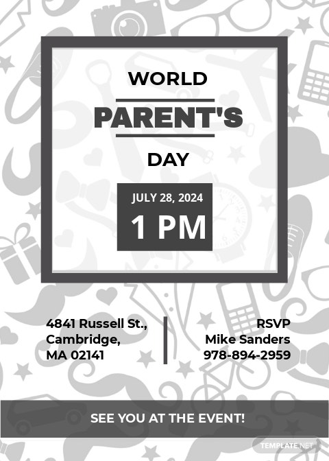Parent's Day Invitation Template