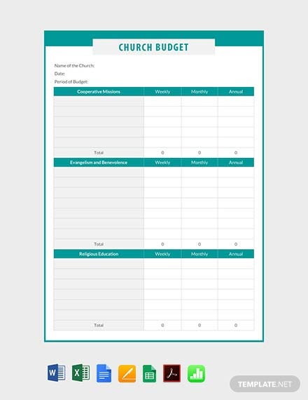Free Church Budget Template Download 239 Sheets In Word Pdf