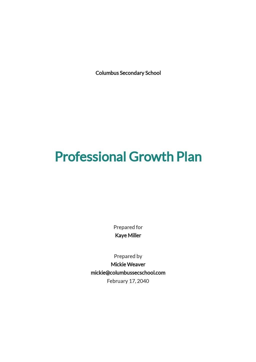 Professional Growth Plan Template.jpe