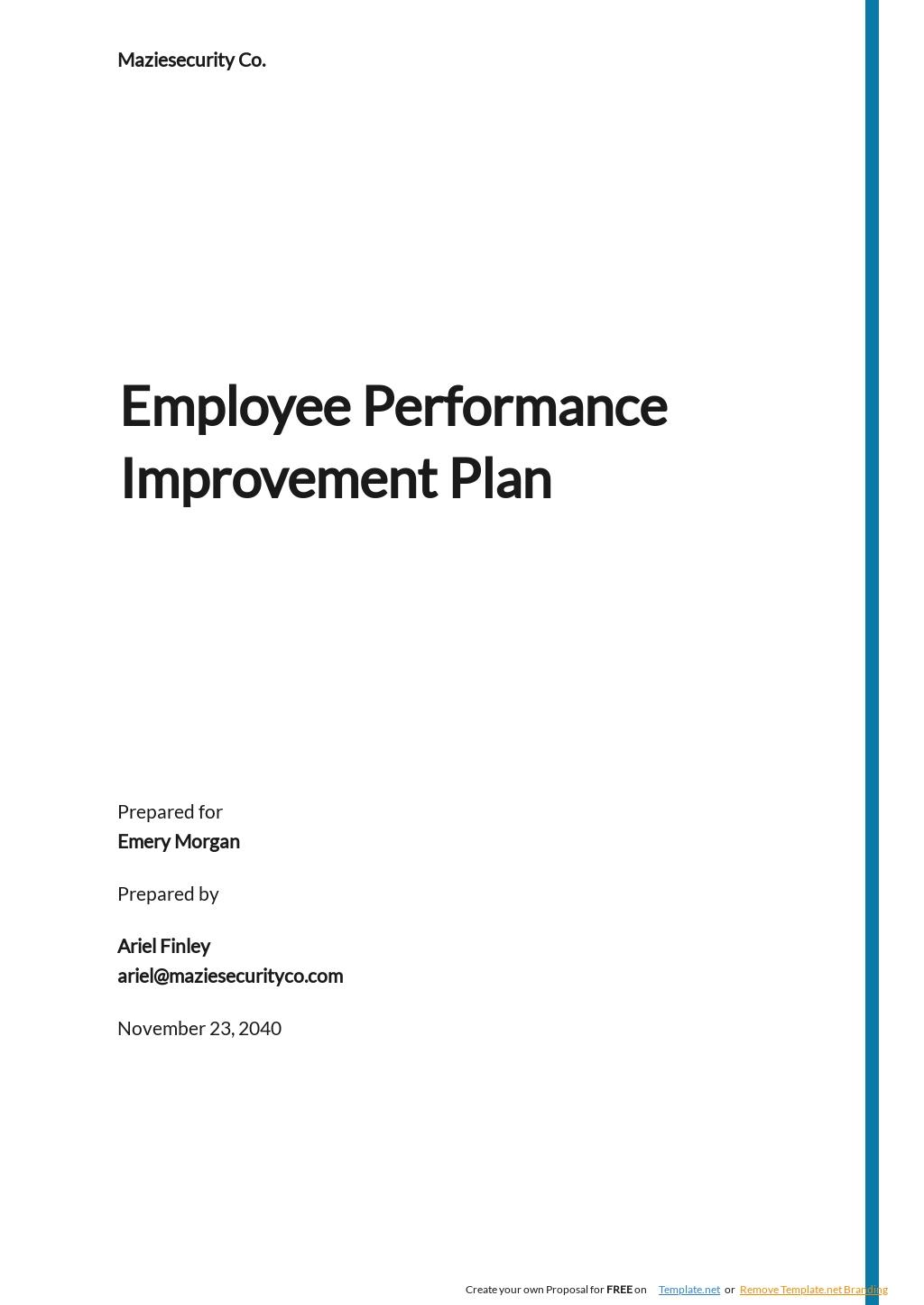 Sample Employee Performance Improvement Plan Template.jpe