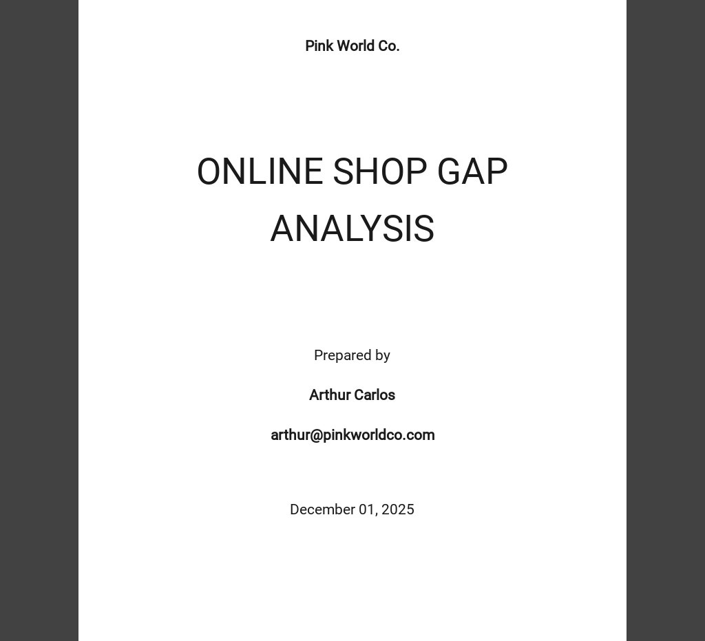 Free Gap Analysis Template