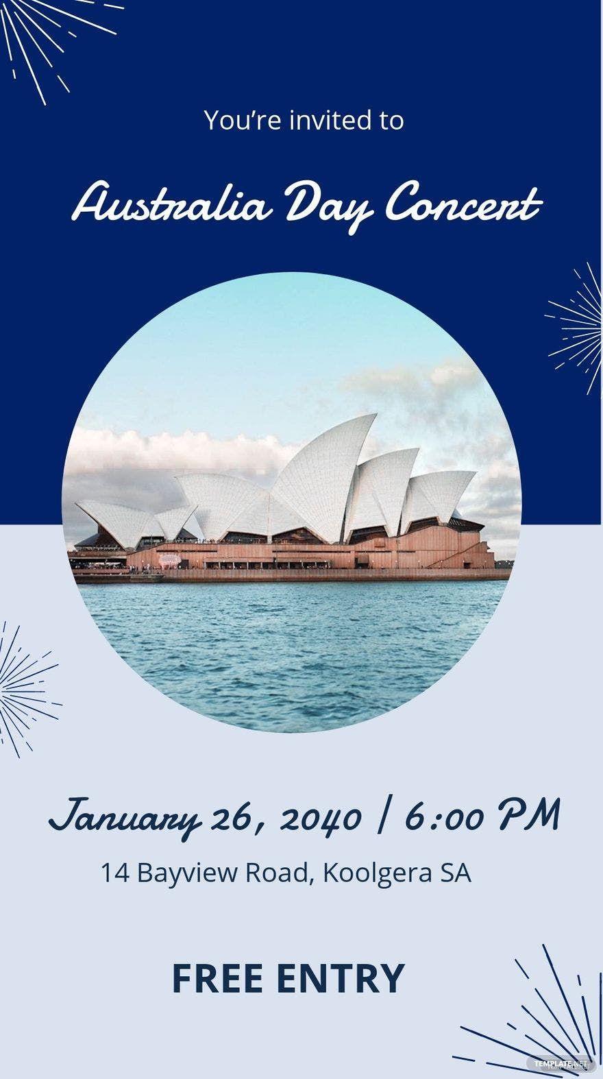 Australia Day Event Whatsapp Post