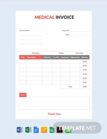 Free Medical Invoice Template