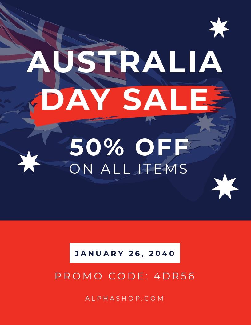 Australia Day Sale Promotion Flyer Template.jpe