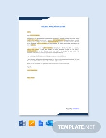 Free College Application Letter Template