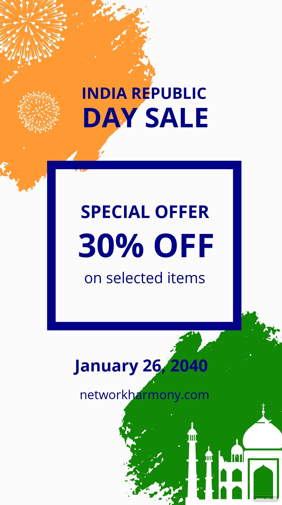 India republic day sale Instagram Story