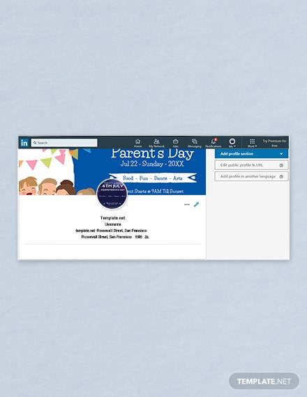 Free Parent's Day Company Cover