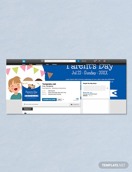 Free Parent's Day Profile banner
