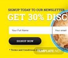 Signup Pop-up Template