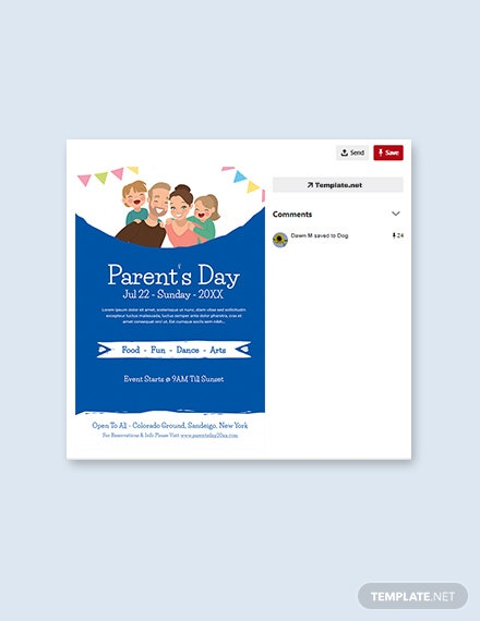 Free Parent's Day Pinterest Pin