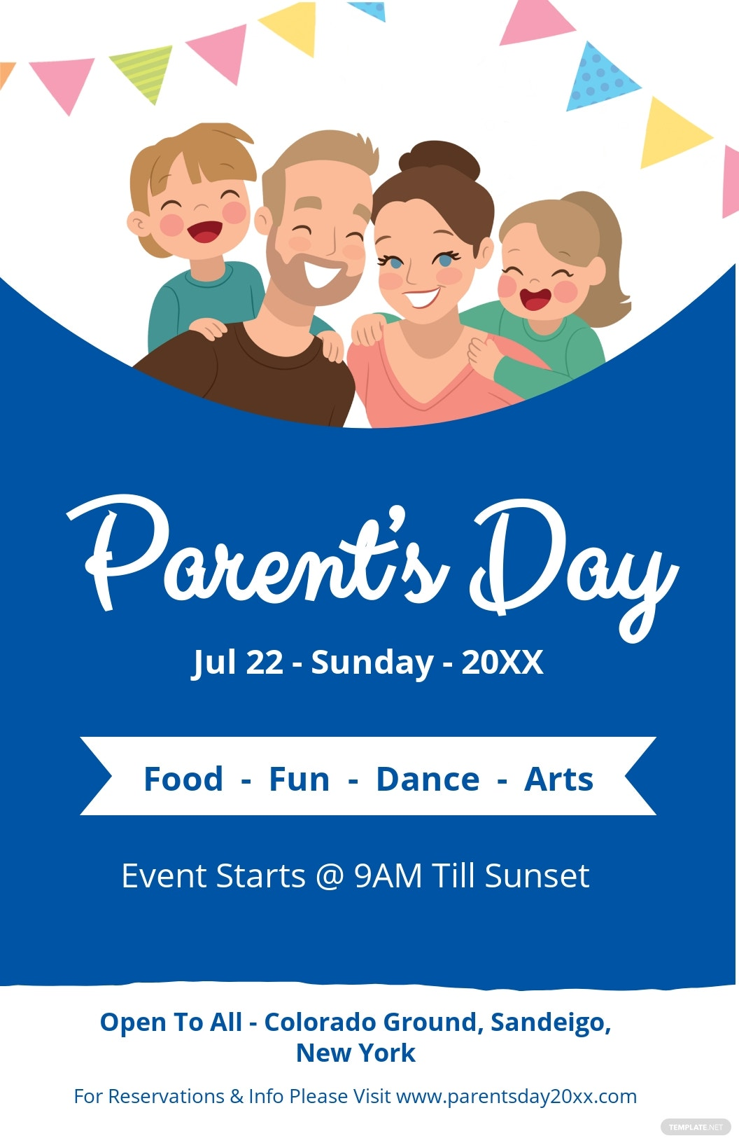 Parent's Day Poster Template