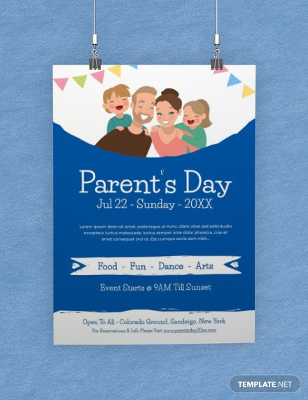 Free Parent's Day Poster