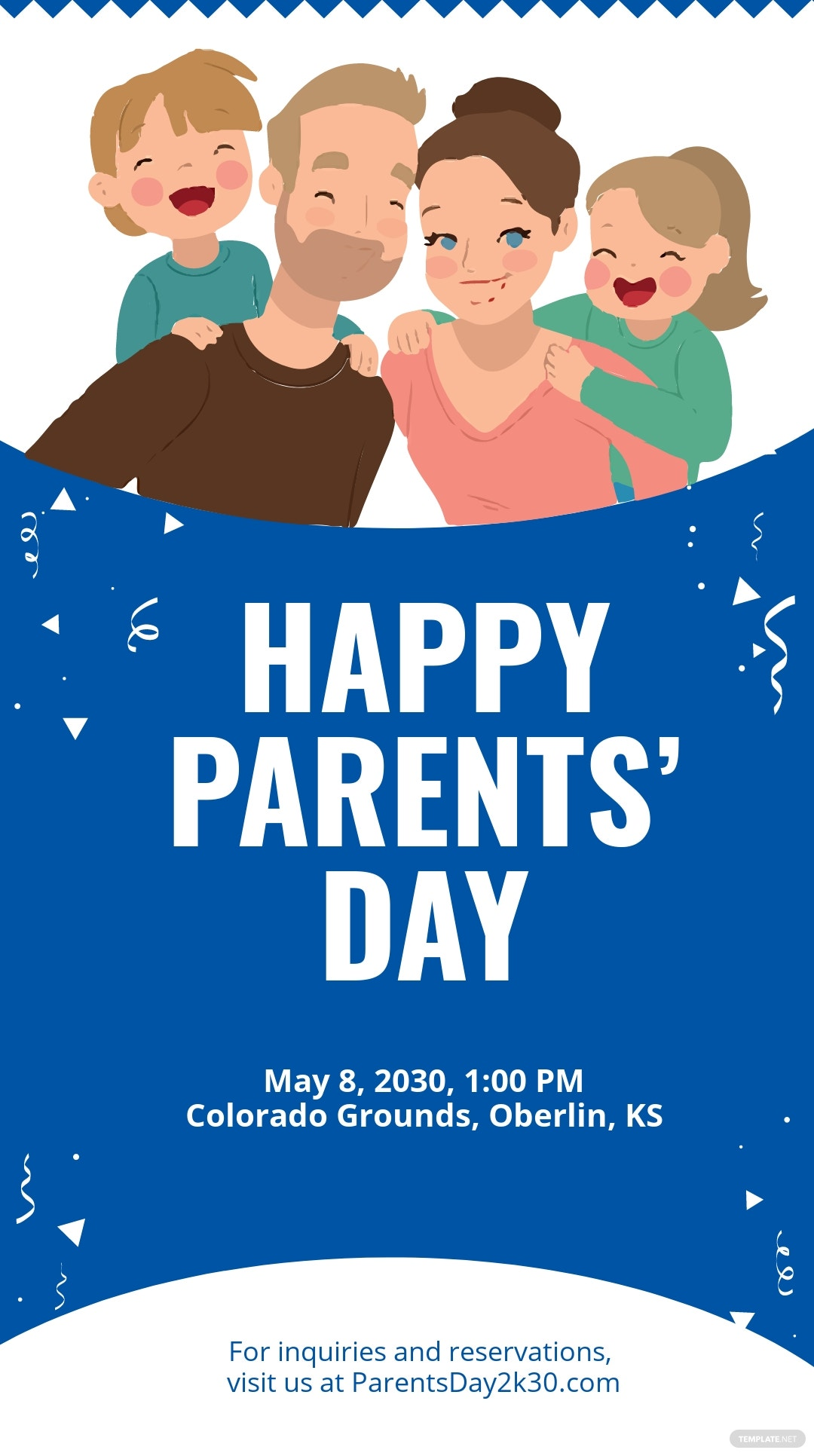 Parent's Day Snapchat Geofilter Template