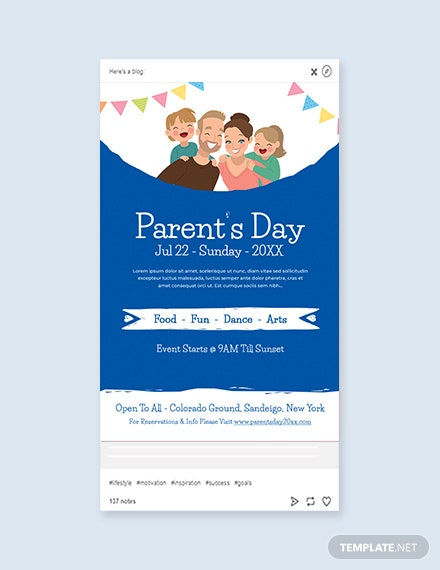 Free Parent's Day Tumblr Post