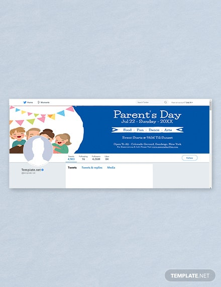 Free Parent's Day Twitter Header Cover