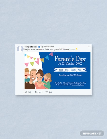Free Parent's Day Twitter Post