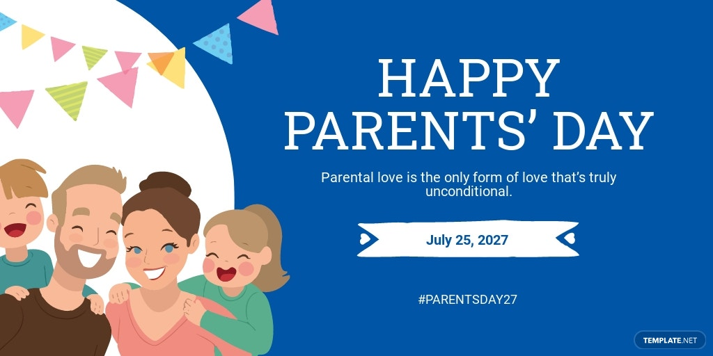 Parent's Day Twitter Post Template