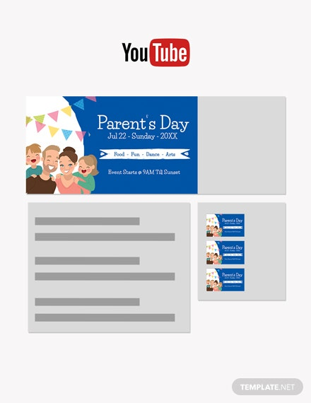 Free Parent's Day YouTube Channel Cover