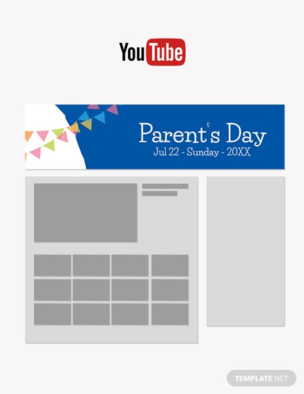 Free Parent's Day YouTube Video Thumbnail