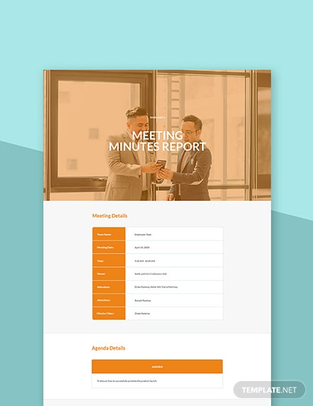 Free Meeting Minutes Report Template