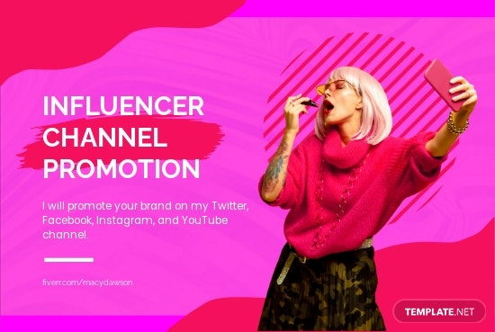Influencer Channel Promotion Fiverr Banner Template