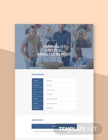 Free Minimalist Meeting Minutes Template