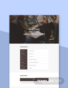 Free Writing Meeting Minutes Template