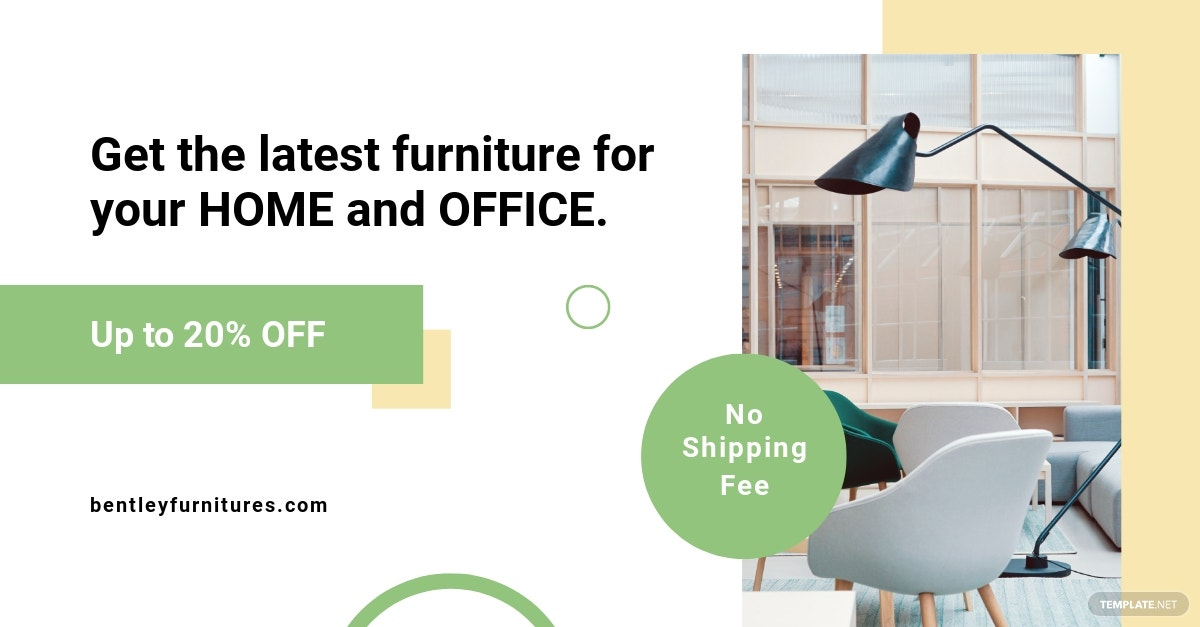 Furniture Shop Facebook Ad Template
