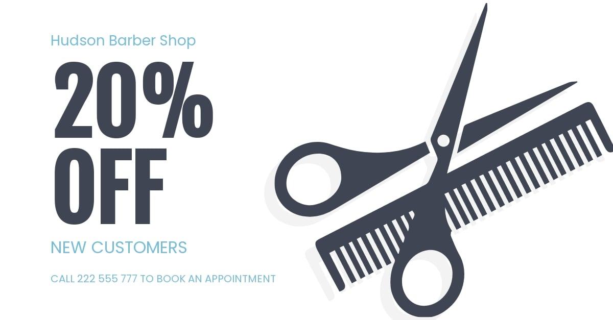 Barber Shop Facebook Ad Template