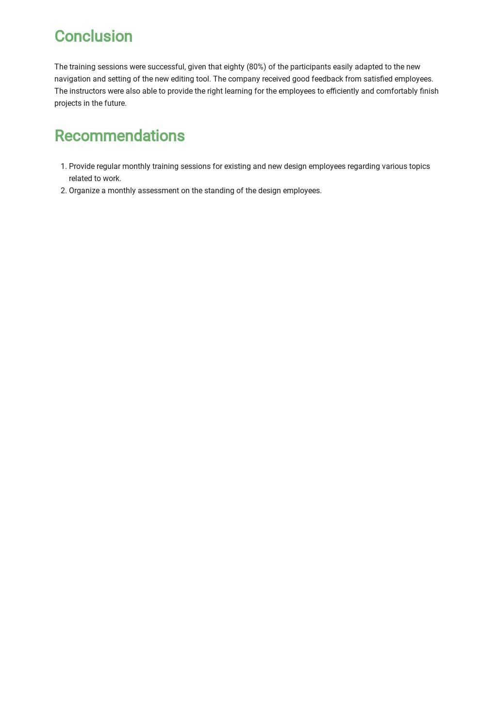 Free Sample Training Report Template 3.jpe
