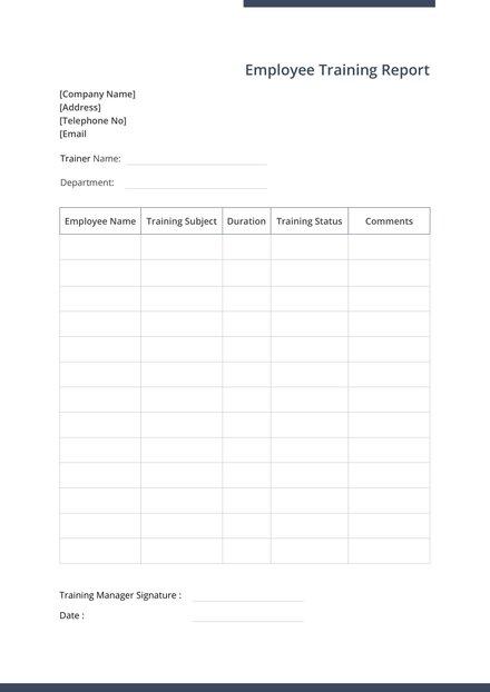 employee handover report template  download 154  reports