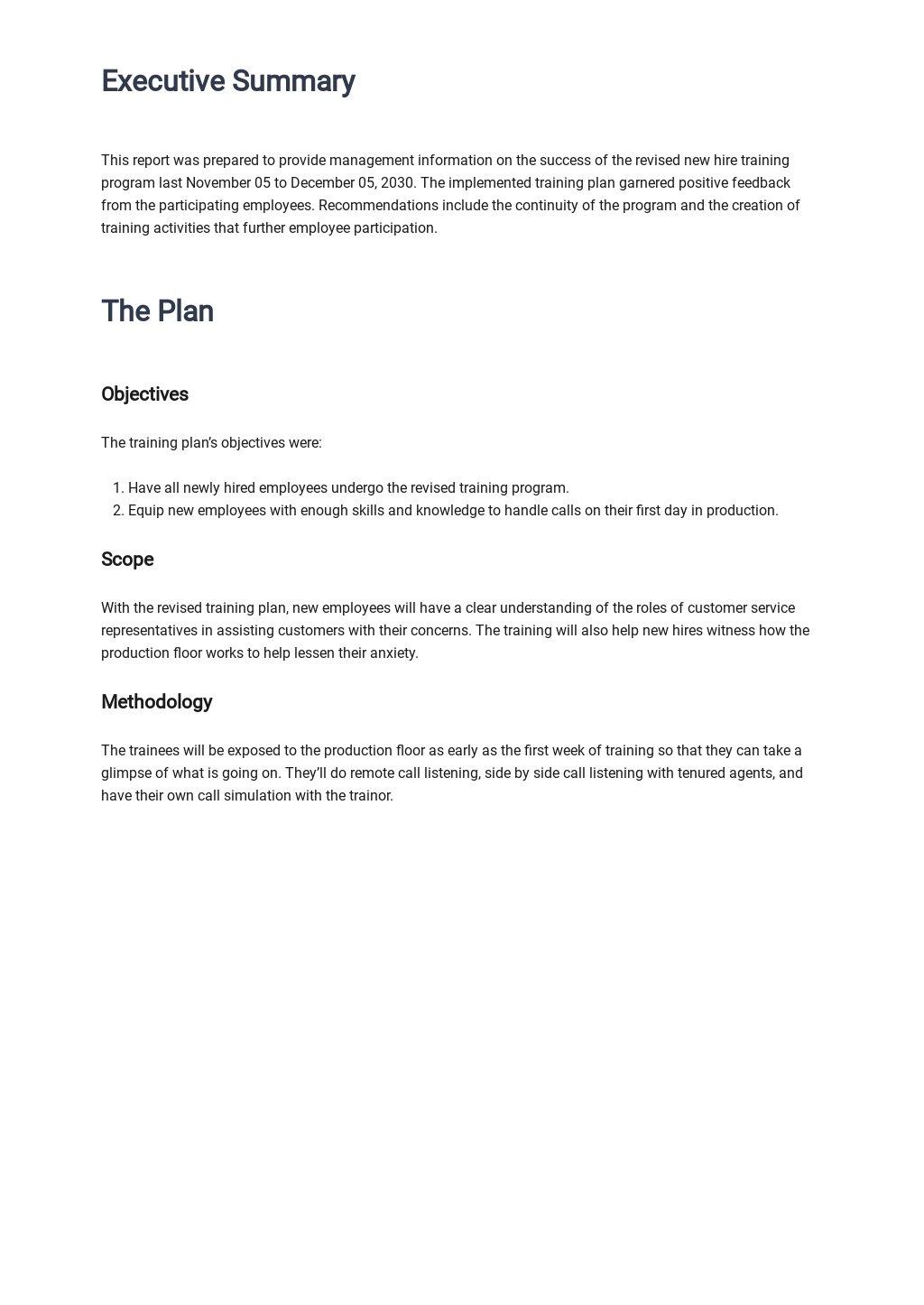 Free Sample Employee Training Report 1.jpe