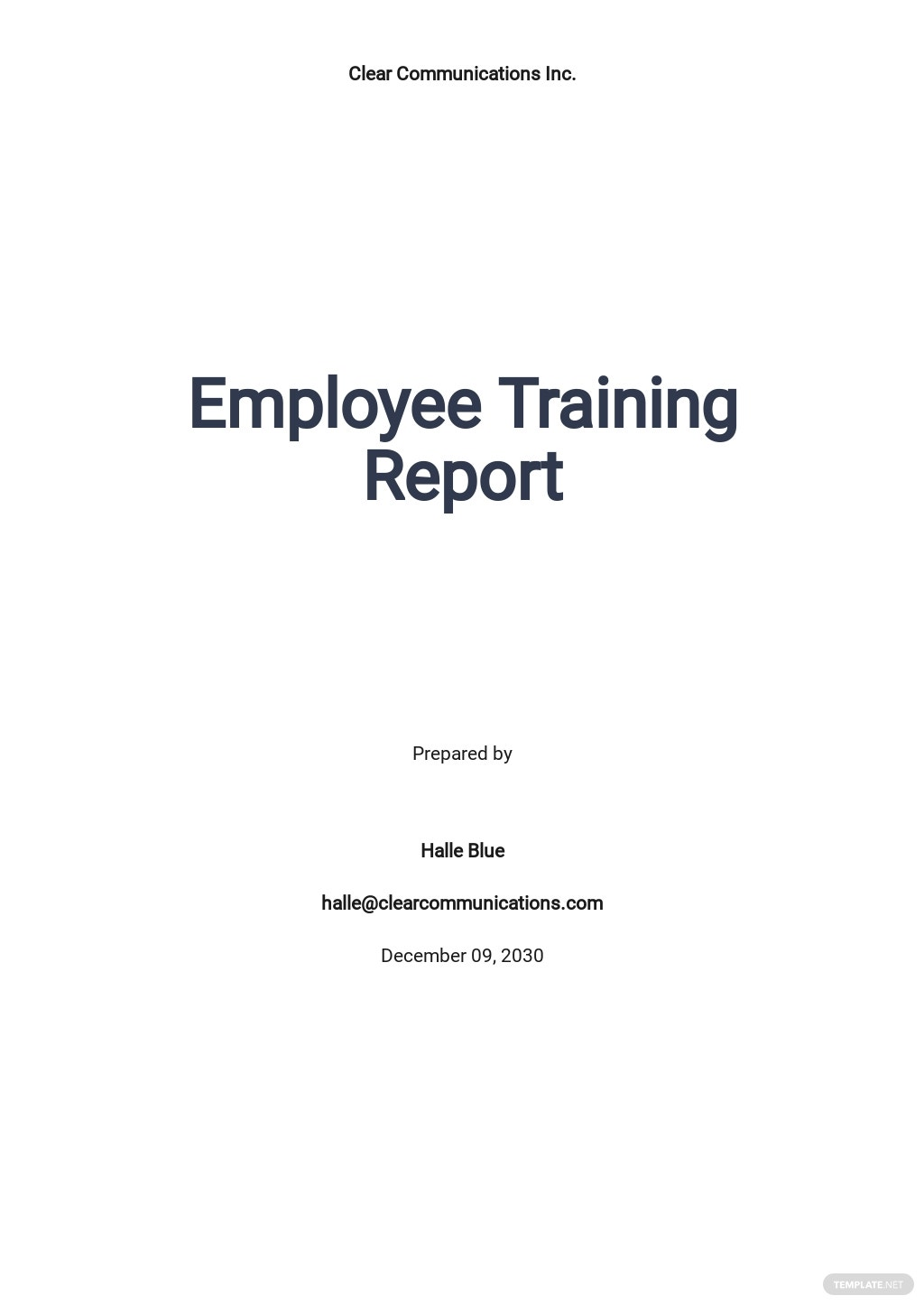 Free Sample Employee Training Report.jpe